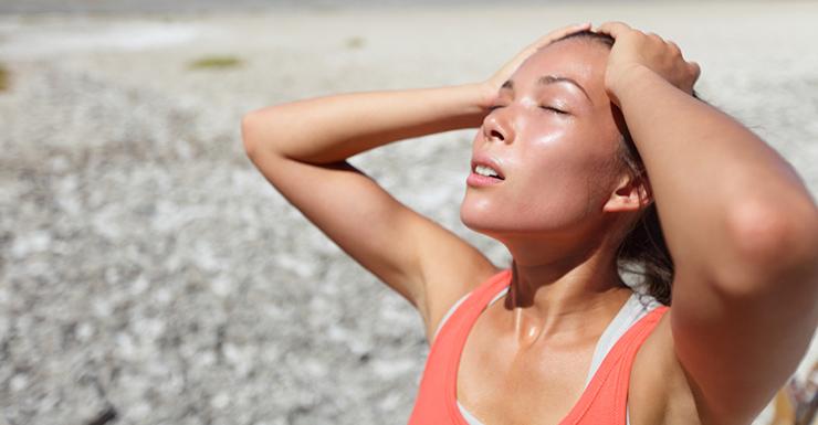 pelle del viso d'estate